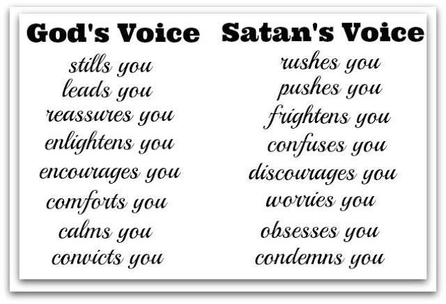 God's voice vs satan's voice