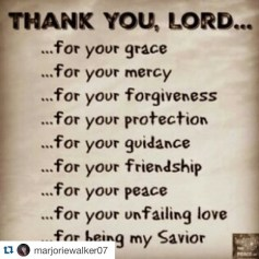 thank you lord for